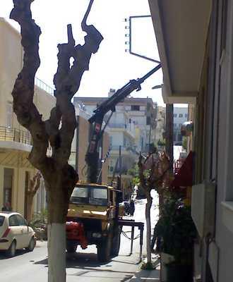 Αγιος Νικόλαος, Αφαίρεση στύλων ΔΕΗ - 200903291135