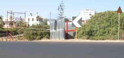 Εθνική Οδός Αγιος Νικόλαος Σητεία, Περιοχή Αλμυρού, Διαφημιστική πινακίδα - 200908241622