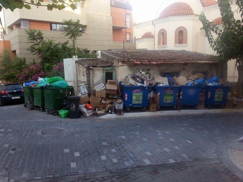 Αγιος Νικόλαος, πλατεία, σκουπίδια - 201408121151