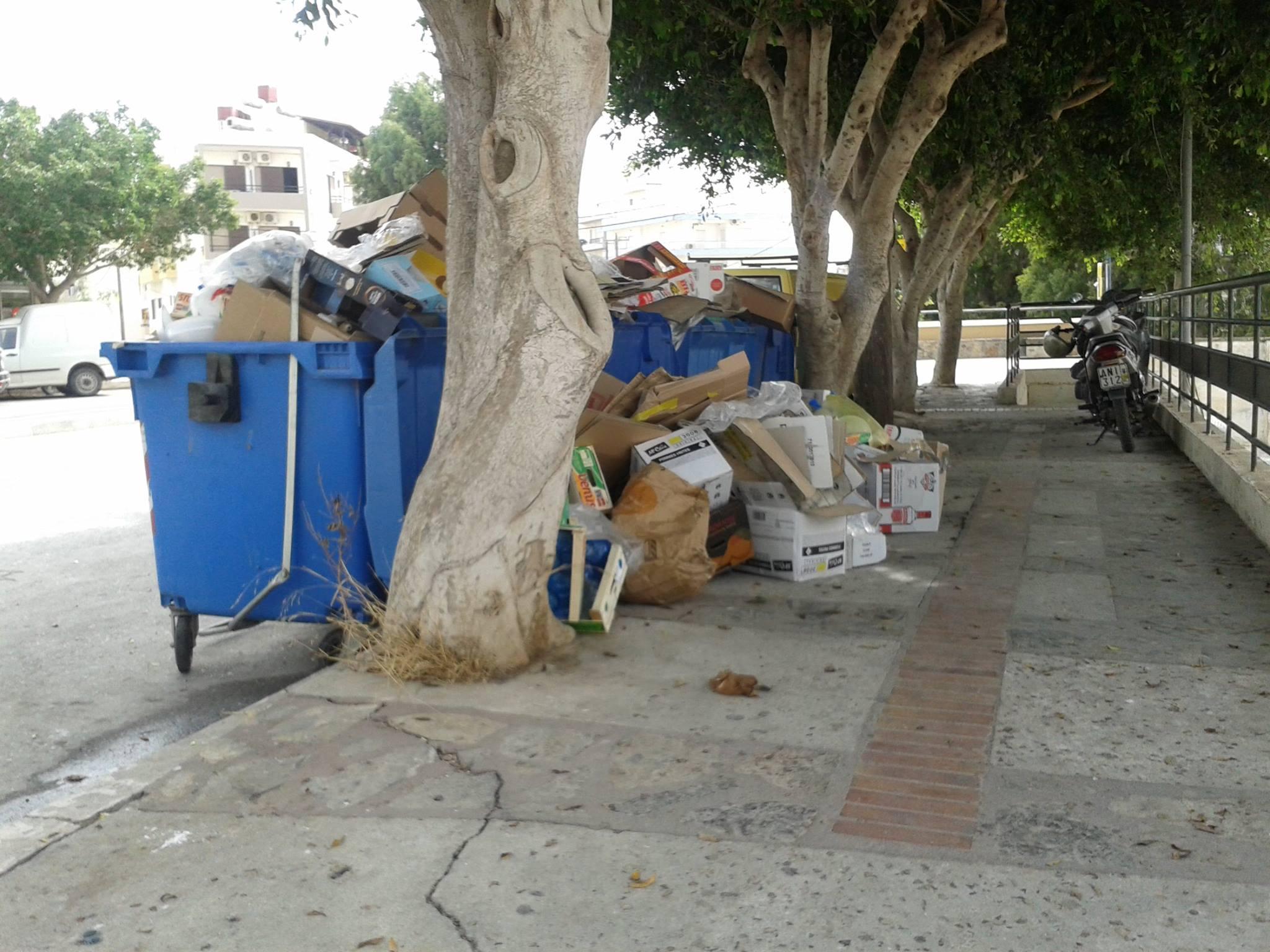 Αγιος Νικόλαος, σκουπίδια επαγγελματιών - gefyra20140712